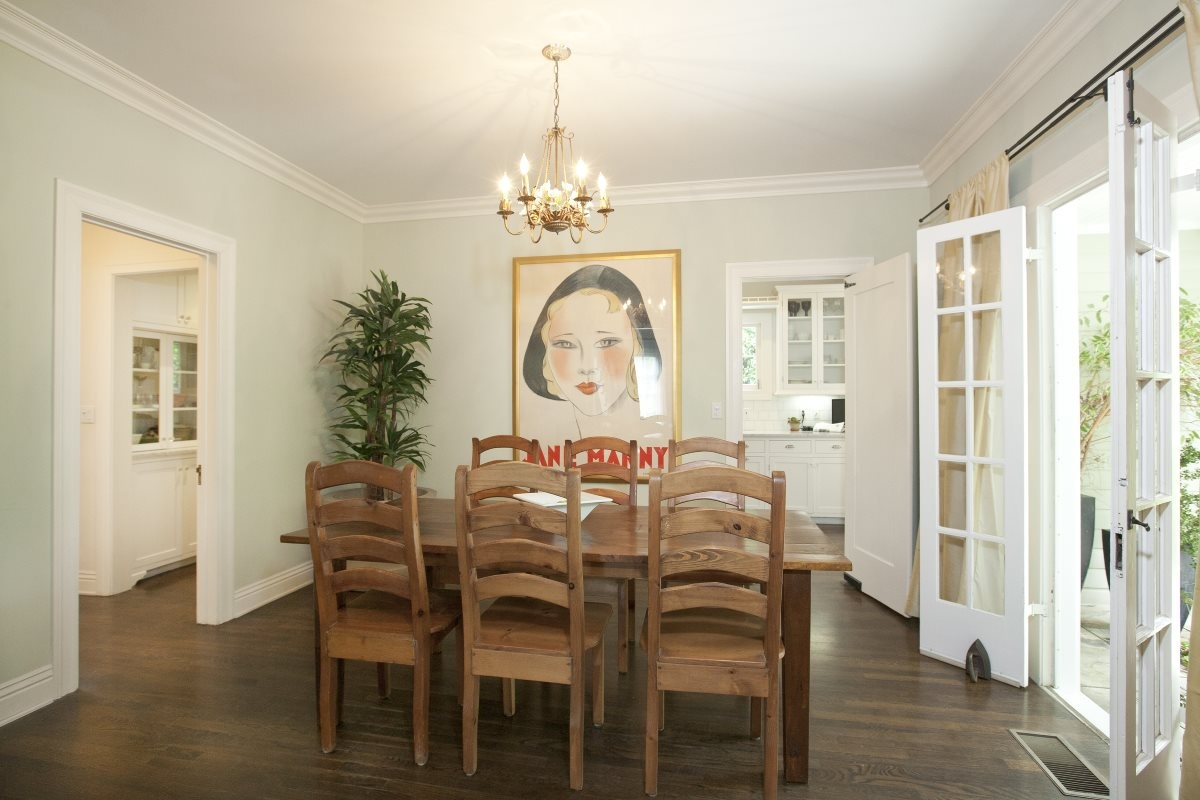 1363 N Orange Grove Spaulding Square English Revival Bungalow Dining Room