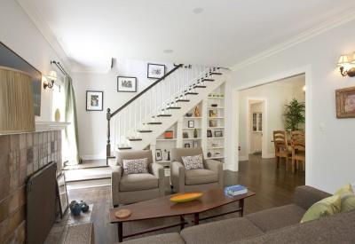 1363 N Orange Grove Spaulding Square English Revival Bungalow Living Room