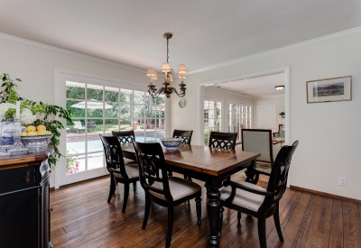 16056 Woodvale Rd Private Encino Country Estate Dining Room