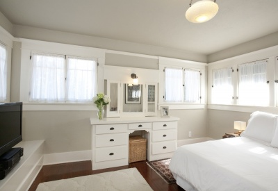 Sunset Square Japanese Swiss Airplane Bungalow Master Bedroom
