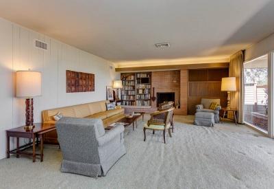 2124 Linda Flora Upper Bel-Air Mid-Century Ranch 90077 Living Room