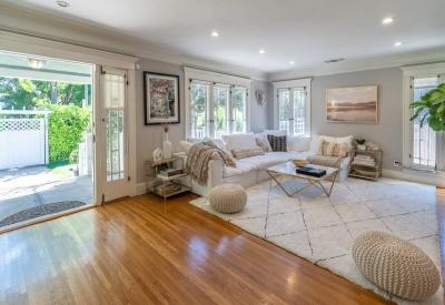 1441 N Ogden Drive Spaulding Square Bungalow Living Room