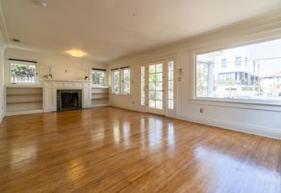 1411 N Stanley Avenue Stanley Avenue Square Adjacent Bungalow Lease 90046 Living Room
