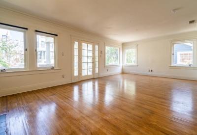 1411 N Stanley Avenue Spaulding Square Adjacent Bungalow Lease 90046 Living Room 2